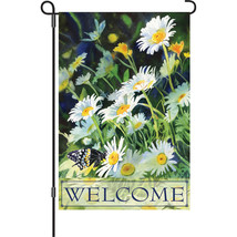 "Welcome Daisies - Premier Soft (12"" x 18"" Approx ) Garden Size Flag PR 5... - $12.99"