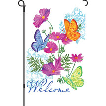 "Butterfly Trio Illuminated (12"" x 18"" Approx ) Garden Size Flag PR 51578 - $12.99"