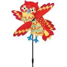 "Orange Owl 17"" Staked Wind Whirl Wing Whirligig... - $30.99"