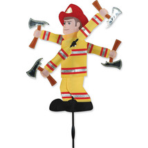 "Fireman Staked Wind Whirli Wing 20"" Whirligig Spinner 15...PR 21867 - $31.99"