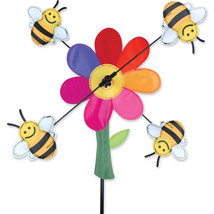 """Bumble Bees Staked Wind Whirli Wing 13"""" Whirligig Spinner 14...PR 21864 - $27.99"""