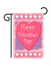 """Happy Valentine's Day Hearts Garden Size (13"""" x 18"""" Approx) Flag TG 51047 - $14.99"""