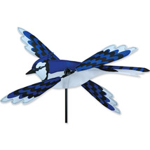 "Blue Jay Bird Staked Wind Whirl Wing Bird 18"" W... - $26.99"