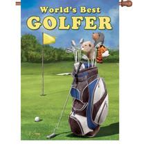 World's Best Golfer House Size Flag PR 52861 - $23.99