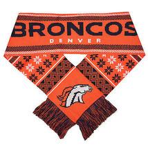 "Nwt Nfl 2016 Lodge (Ugly) Scarf 64"" By 7"" Denver Broncos - $19.95"