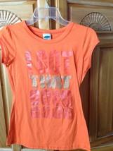 women's Orange Shirt I got that good good By M fasis by California blue Size Sma - $20.00
