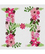 pepita The Letter H Flowering Needlepoint Canvas - $40.00