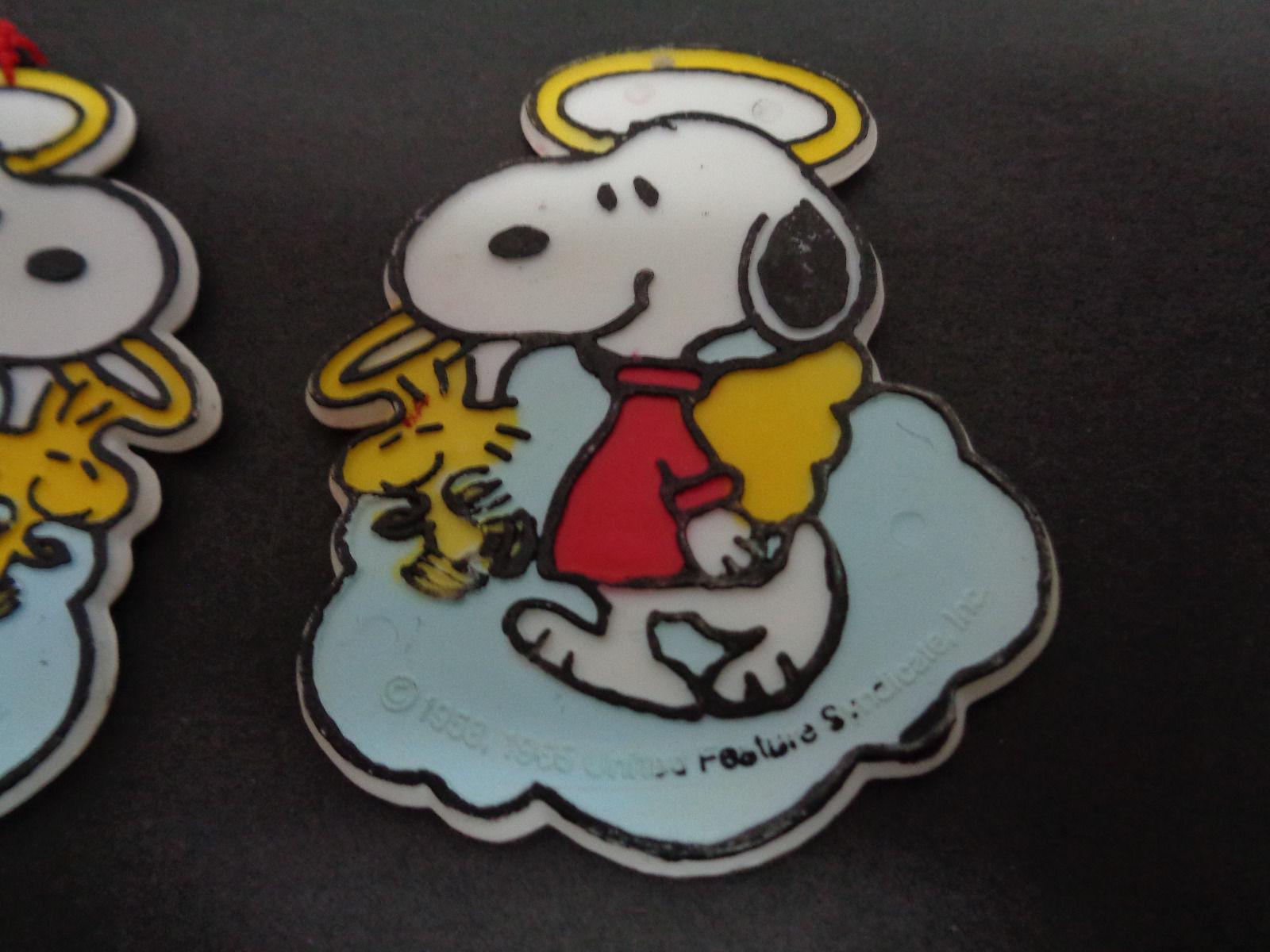 1958 Peanuts Snoopy Ornaments Flat Set of Three