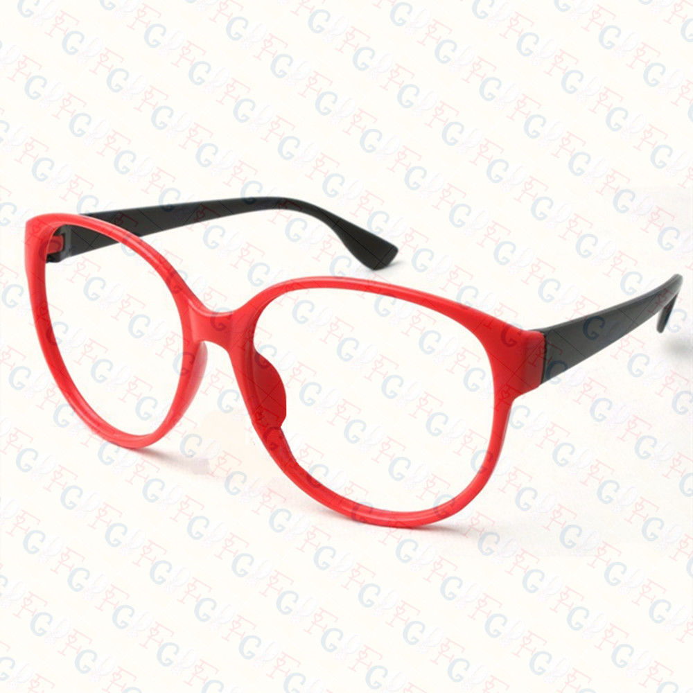 New Large Size Vintage Retro Nerd Oval Round Glass Frame Eyewear NO LENS Costume image 5