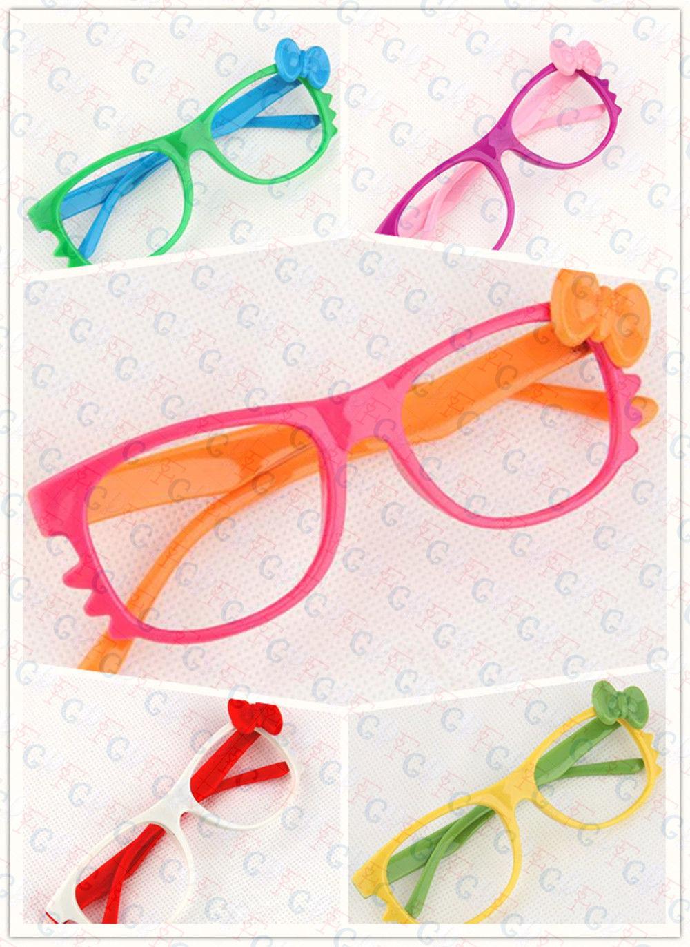 Super Cute Costume Glass Frames for Kids NO LENS Cat Eye Whisker Bowknot Cosplay
