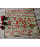 Winifred Glarke 1892 cross stitch chart Pineber... - $10.80