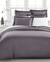 Damask Full/Queen Duvet Cover, 500 Thread Count 100% Pima Cotton, Slate - $43.55