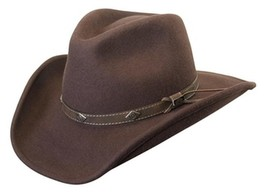 NEW Conner Hats Shapeable Water Proof WOOL Cowboy Hat Brown 3.5 Brim C10... - €57,12 EUR