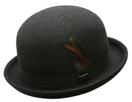NEW Conner BOWLER DERBY CRUSHABLE Water Proof WOOL Fedora Top Hat Grey M... - €45,98 EUR