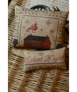 Silent Night Pinkeep & Ornament cross stitch ch... - $10.80