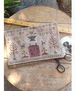 Schoolgirl Sampler Sewing Bag cross stitch char... - $10.80