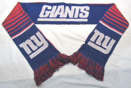 """Nwt Nfl 2016 Reversible Stripe Scarf 64"""" Long By 7"""" New York Giants - $25.99"""