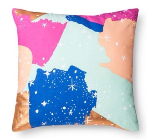 """Oh Joy! Decorative Pillow Gold 18"""" X 18"""" Bed Decor Painted Constellations New"""