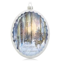 Hope Shines Bright 2014 Hallmark Ornament Christmas Winter Snow Trees De... - $14.94