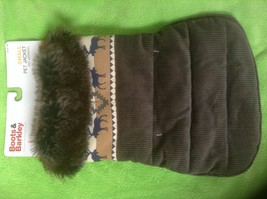 Gray Corduroy Jacket Pet Apparel - Boots & Barkley Pet Collection- Winte... - $16.82