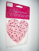 Valentine Heart Paper Cut-outs scrapbooking craft supplies - $9.89