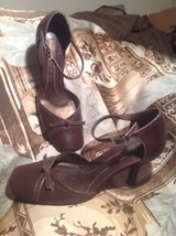 Gianni Bini Women's Brown Leather Ankle Strap Heels Pumps Shoes Size 7.5M - $24.74