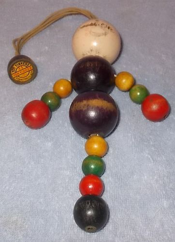 Primary image for Vintage Toy Tinker Tom Tinker Wood Bead Doll Evansville Il Ca 1920