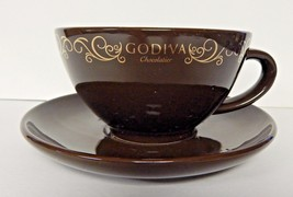GODIVA Chocolatier Coffee CUP & SAUCER Californ... - $24.74