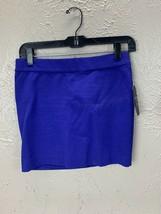 Guess Los Angeles Blue Mini Skirt Stretchy Spandex back zip size Medium - $18.65