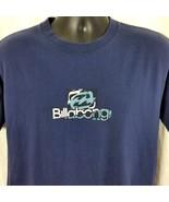 Billabong Blue Mens Medium Tee Shirt Short Sleeve Logo Graphic Vintage - $29.99