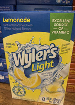 12 Boxes Wyler's Light Lemonade Singles To Go Drink Mix 8 Packs Each 96 Packets - $29.65
