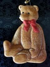 Vintage 1983 Schmid Porcelain Gordon Fraser Teddy Bear w/Bow Christmas Ornament - $8.99