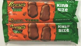 Lot of 2 Reese´s Holiday Milk Chocolate Peanut Butter Tree King Size (68g) NEW