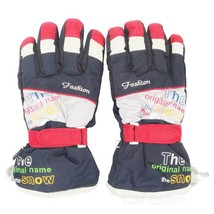 Outdoor Sports Skiing Warm Taslan + Cotton Full-Finger Gloves - $20.26 CAD