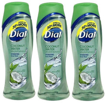 3 Dial Coconut Water Ultra Fresh Hydration Hydrating Body Wash With Mois... - $26.99