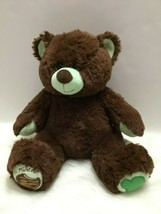 Build A Bear Girl Scout Cookies Thin Mints Plush Bear 14 Inch BABW Teddy  - $19.80