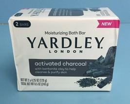(2 Bars) Yardley Moisturizing Soap. Activated Charcoal 4.25 oz - $8.52