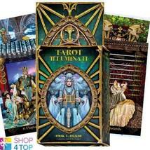 TAROT ILLUMINATI DECK CARDS BOOK SET ESOTERIC FORTUNE TELLING LO SCARABE... - $33.65
