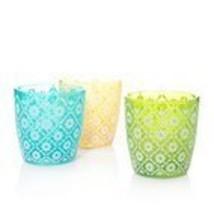 Yankee Candle Floral Set of 3 Tea Light / Votive Candle Holder - $22.00