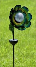 Zaer Ltd. Solar Flower Garden Stake with Rotating and Color Changing LED Light-U - $64.99
