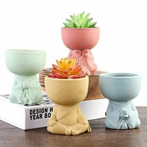 Creative Little Buddha Flower Pots Miniature Home Decoration Accessories... - $12.74