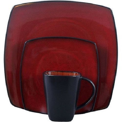 Red Dinnerware Set Kitchen Dinner Square and 44 similar items