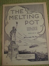 Original Vintage 1934 The MELTING POT Song Book Piano Arrangements 64 pgs - $11.57