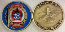 NAVY USS TENNESSEE SSBN-734 SUBMARINE FORCE BOOMER PRIDE CHALLENGE COIN - $27.07