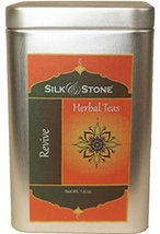 Silk & Stone Organic Revive Tea (Herbal Mildly-Caffeinated Tea in a Tin) 1.6oz. - $8.90
