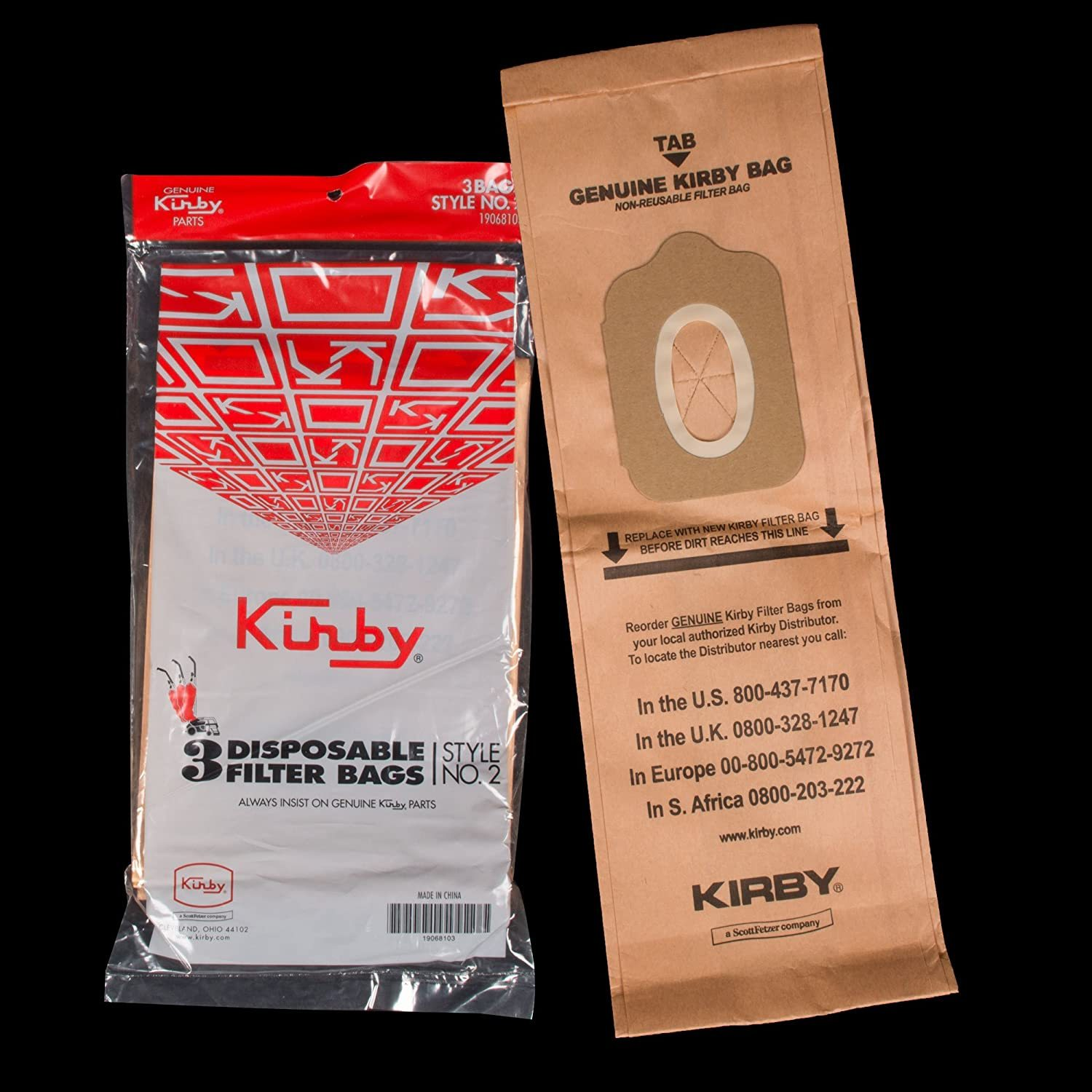 Primary image for Kirby Style 2 Upright Vacuum Cleaner Bags - 3 Pack