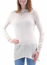 Lucky Brand Top Ivory Size XS Thin Sweater Long Ribbed Turtle Neck NEW R... - $22.33