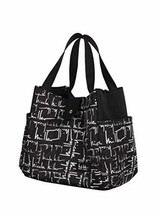 Nicole Miller Luggage Insulated Lunch Tote Bag Black/White - $37.06