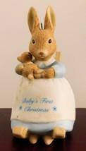 """Hallmark Cards Bunnykins Figurine - """"Baby's First Christmas""""  - $12.34"""
