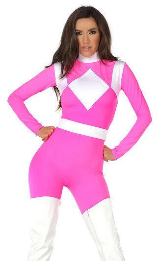 forplay supreme pink power ranger catsuit superhero. Black Bedroom Furniture Sets. Home Design Ideas
